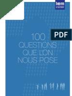 100 questions que l'on nous pose