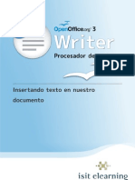 T01 L02 WRITER Insertando Texto en Nuestro Documento
