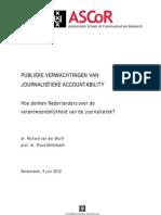 Van der Wurff & Schönbach (2012) Publieke verwachtingen van journalistieke accountability