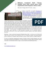 2012 - giugno 13 - Lungotevere.net - Riduzione trasmissioni Radio Vaticana, Bambini senza Onde ' piccolo passo, livello inquinamento elettromagnetico rimarrà critico'