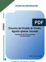 Intervención de Agustín Iglesias Caunedo en la presentación de las jornadas de conciertos del Auditorio y piano