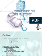 Instructions to the Patient
