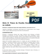 Série D Times da Paraíba ficam no empate na rodada