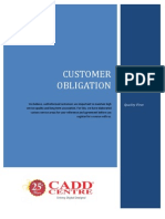 Customer Obligation Booklet
