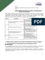 Notification BEML SC ST Various Vacancies
