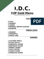 GOLD MENU - TOP F&B CATERING