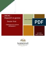 D9CW2 - Dispositif et Gestion (O. Cotinat) Scénario pédagogique