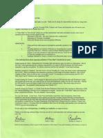 Sylvan Township board letter
