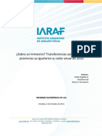 IARAF Transferencia III Trimestre 2011