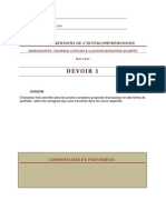 D9CH4 - Dimensions de l'intercompréhension Devoir 1