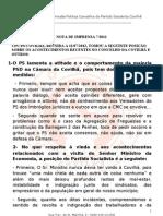 Nota de Imprensa 7- 2012
