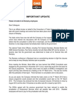 Joint Notice to All Employees - Important Update - 19.04.12