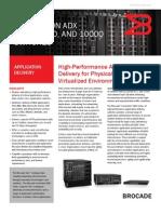 Brocade ServerIron ADX Series datasheet
