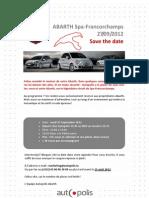 Abarthisti @Spa Francorchamps, 27 September 2012