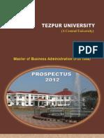 MBA Prospectus 2012-13