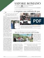 L´OSSERVATORE ROMANO. 15 Julio 2012