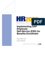 Implementing ESS for Benefits Enrollment