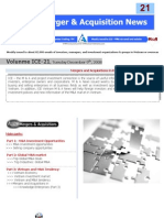 ICE21-Mergers & Acquisitions NEWS