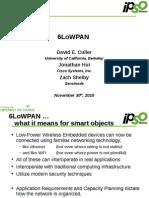 6lowpan Webinar Slides