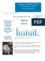 Sedgwick Library End-Of-Year Report 11-12