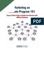 Marketing an Affiliate Program 101