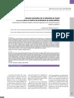 Importancia de la función normativa de la autoridad de salud nacional para el control de problemas de salud pública