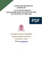 Faculty Development Programs XI Plan