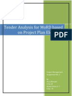 Analysis of Tender_Ministry of Rural Developemnt_project Management