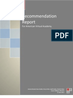 AVA Recommendation Report Final