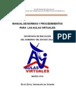 Manual de Normas y Procedimientos Aulas Virtuales