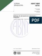 NBR 15751 - SISTEMA DE ATERRAMENTO DE SUBESTAÇÕES