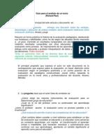 Guía para el análisis de un textoBravo y Fernández
