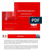 Zenith Bank FY2010 Group Results Presentation