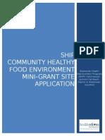 SHIP Nutrition Mini-Grant Instructions