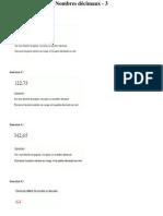 Exos - Nombres décimaux - fiche 3 avec corrigé