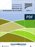 Diseño de Informes preliminares de suelos contaminados