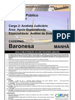 Cespe 2005 Tre Ma Analista Judiciario Analise de Sistemas Prova