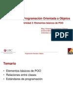 EPE POO Unidad 2 Sesion1 Elementos de POO