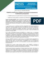 Nota de prensa 160712 reunión Fonafe