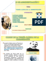 PRESENTACIÓN DE LA TEORÍA CLÁSICA