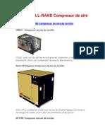 INGERSOLL-RAND Compresor de Aire de Tornillo