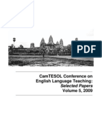 CamTESOL Selected Papers Vol.5 2009