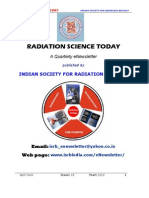 Radiation Science Today eNewsletter 2012
