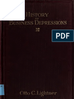 History of Busines Depressions