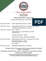 Week Starting July 16