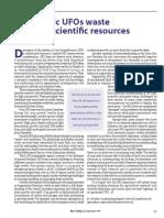 RT Vol. 3, No. 3 Agronomic UFOs waste valuable scientific resources
