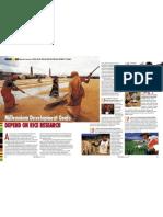 RT Vol. 3, No. 1 Millennium development goals depend on rice research