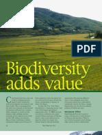 RT Vol. 2, No. 1 Biodiversity adds value