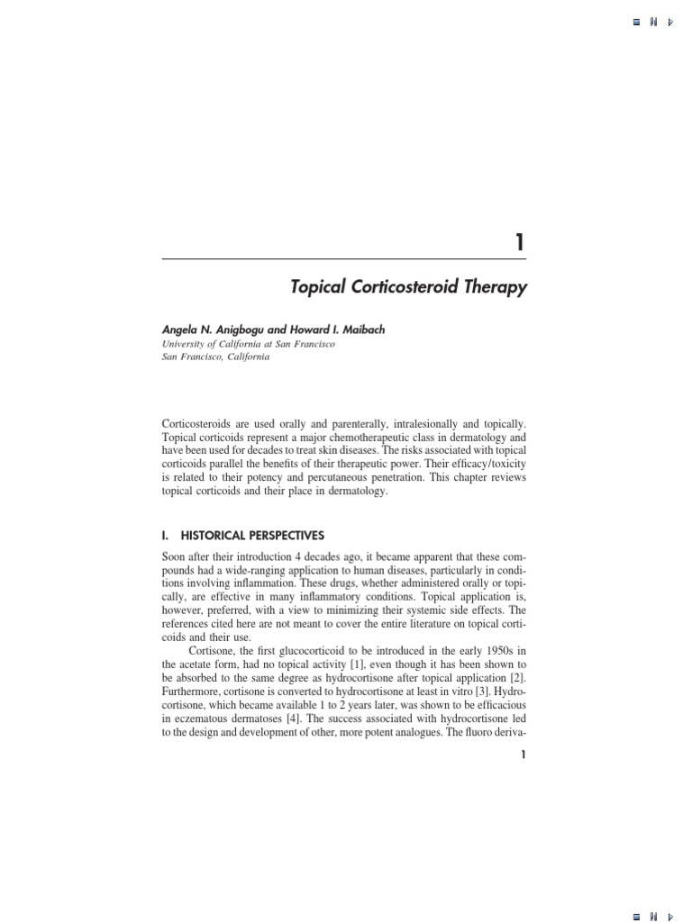 Drug Therapy in Dermatology   Corticosteroid   Glucocorticoid