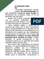 2002 Discurso de Asunción de Eduardo Duhalde